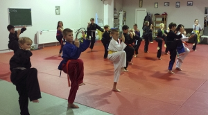 Kindertraining im Koshokun Kampfkunstzentrum